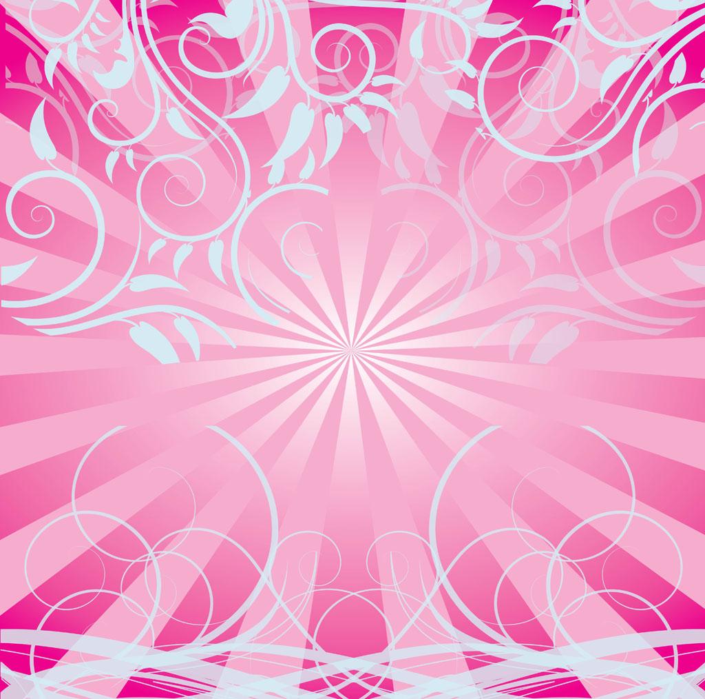 Pink Swirls Background 1024x1014