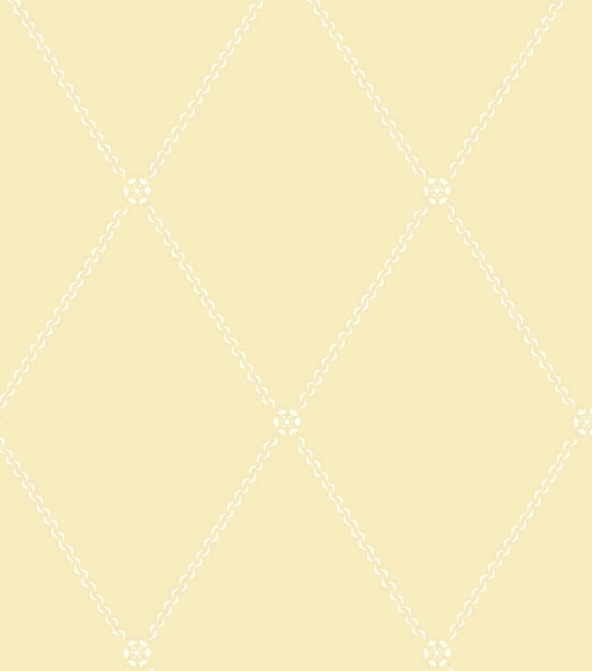 Trellis Wallpaper Soft yellow wallpaper with chain style trellis 534x605