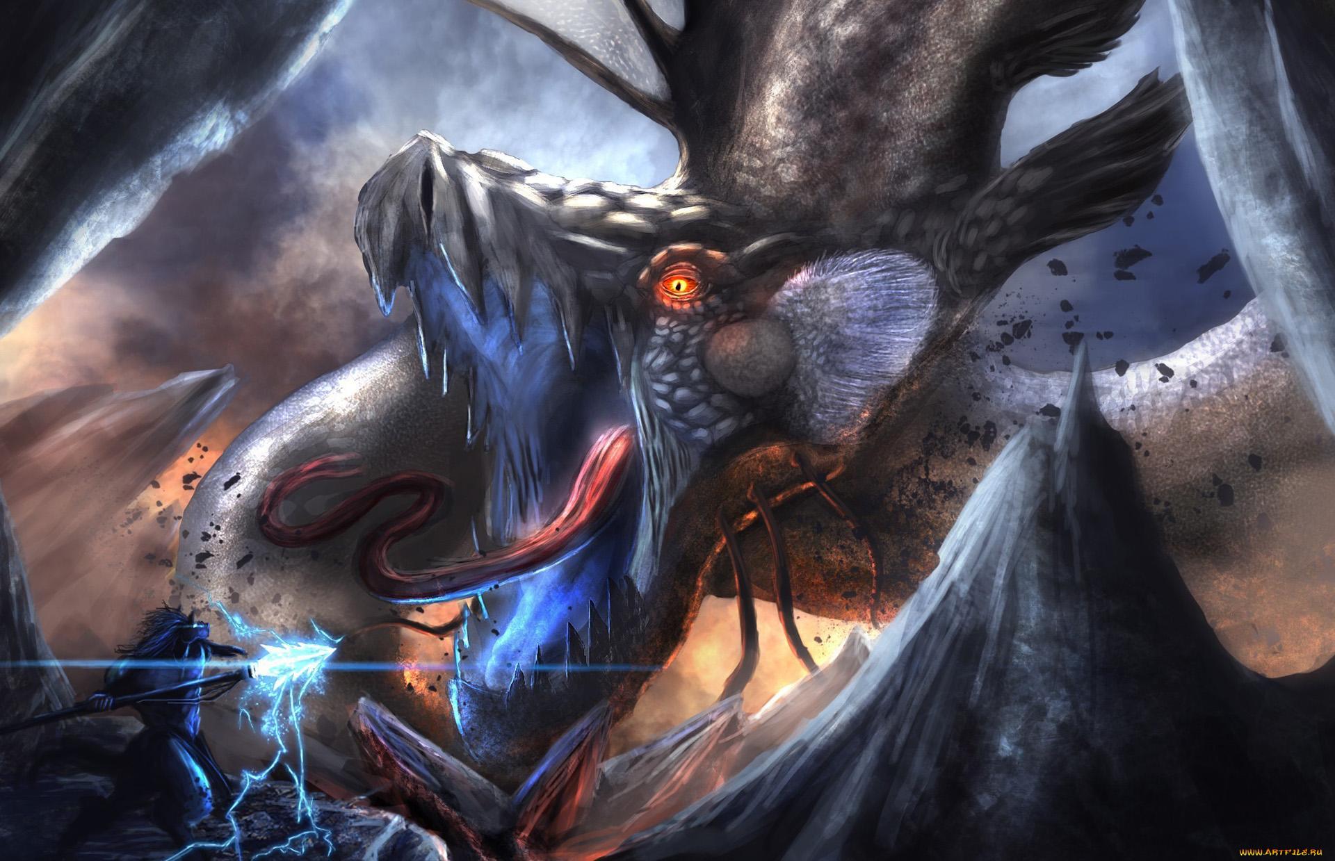 Epic Anime Fight Wallpaper Epic fantasy warrior dragon 1920x1239