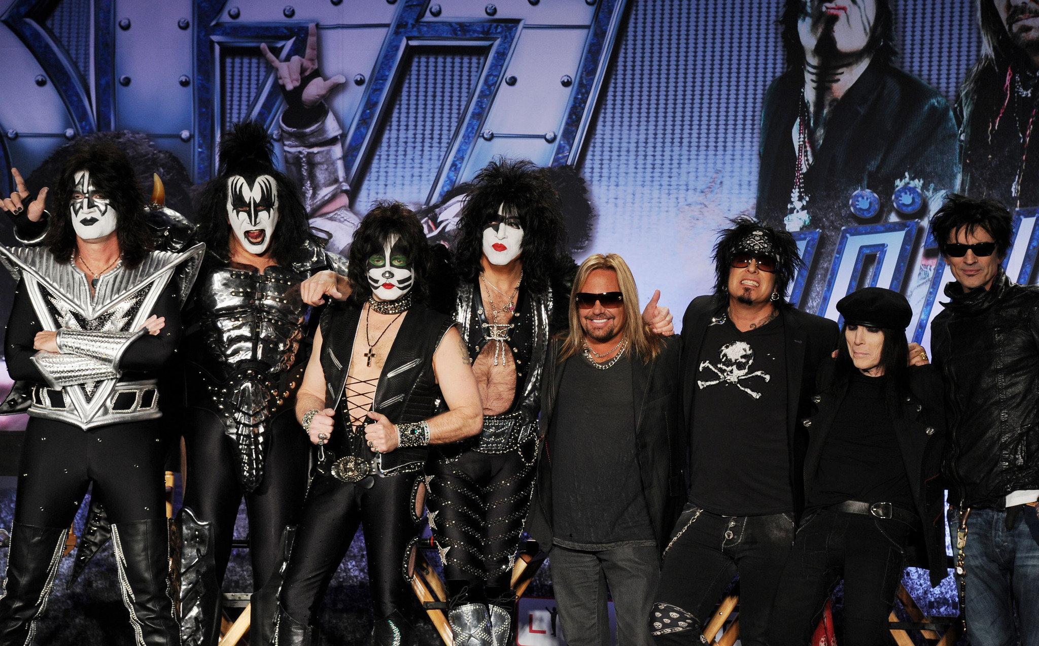 Motley Crue KISS concert heavy metal rock wallpaper background 2048x1273