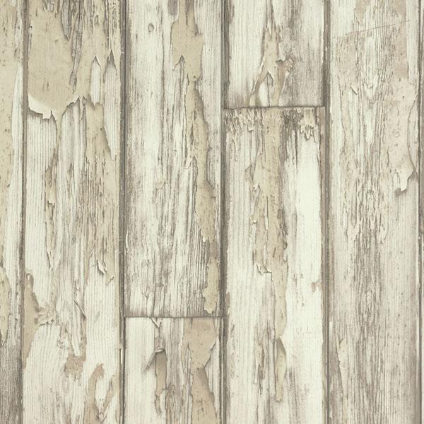 Clarke Clarke Peeling Planks Wallpaper   Birch W005002 600x600