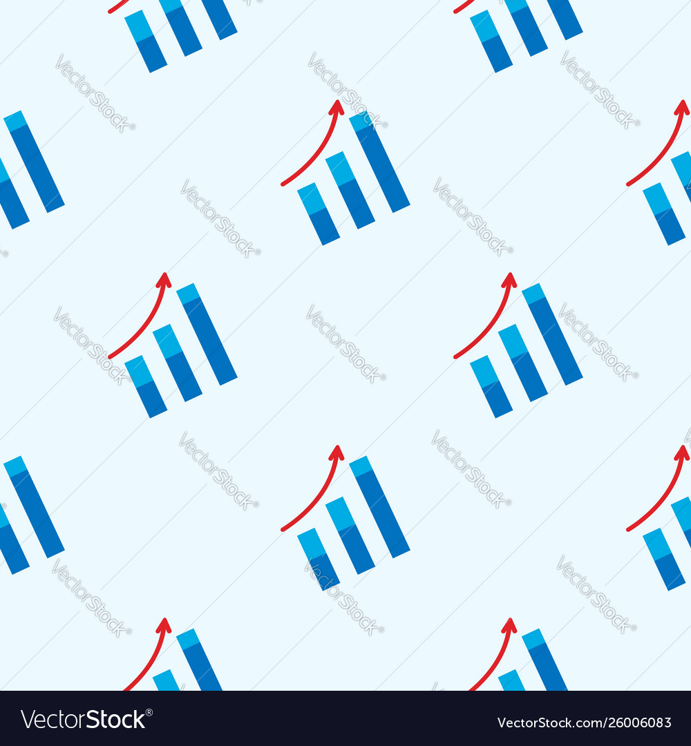 Arrow move up symbol seamless pattern growing Vector Image 1000x1080
