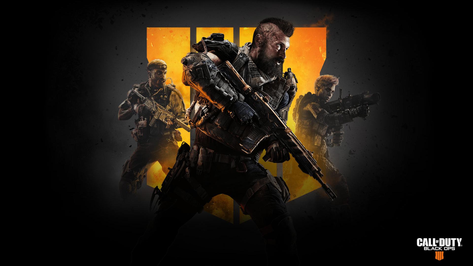 Desktop wallpaper call of duty black ops 4 soldiers video game 1920x1080
