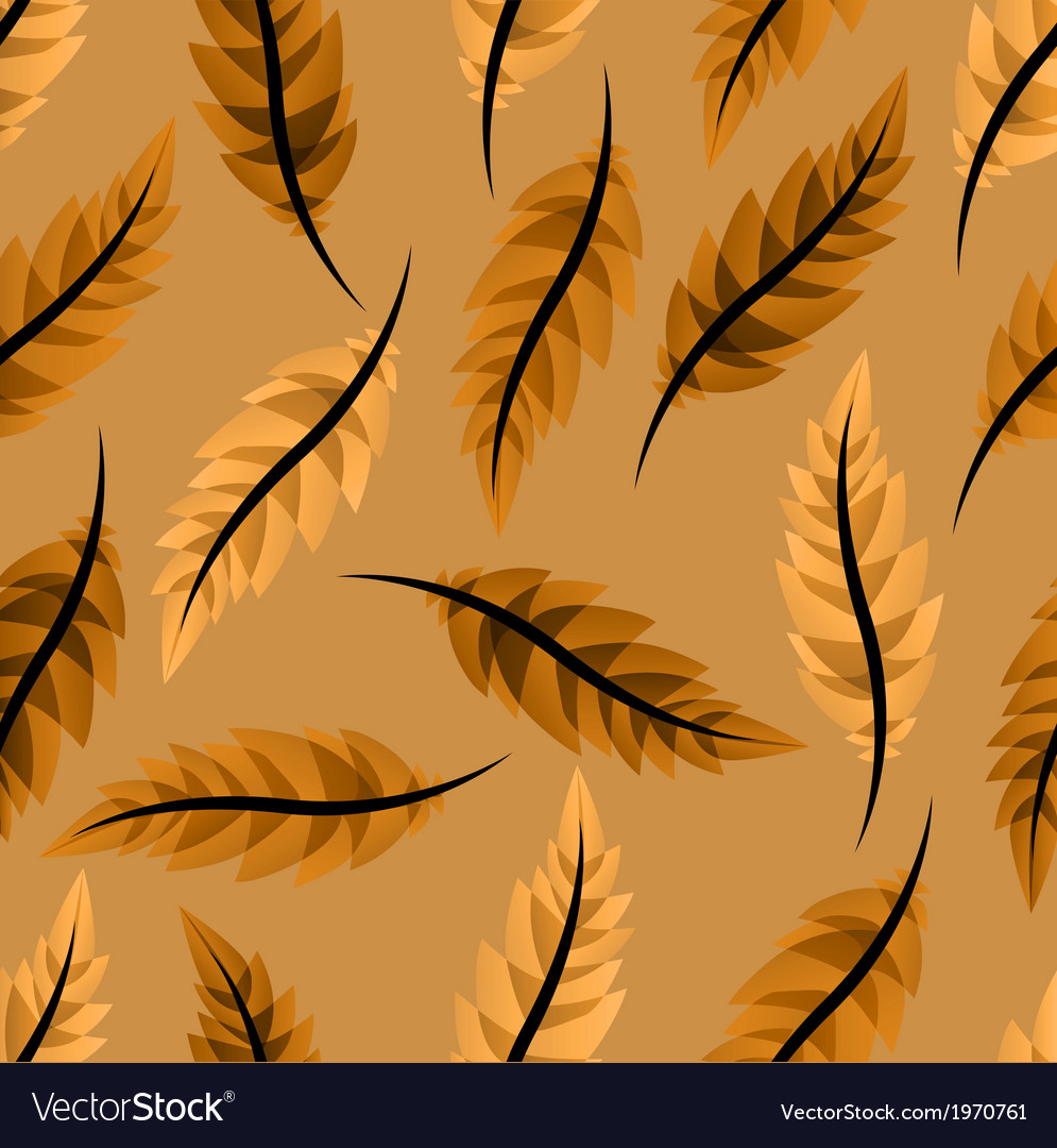 Seamless light brown background with leaves and fe 995x1080