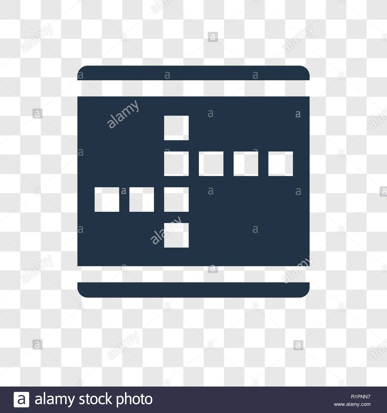 Crossword vector icon isolated on transparent background 1300x1389