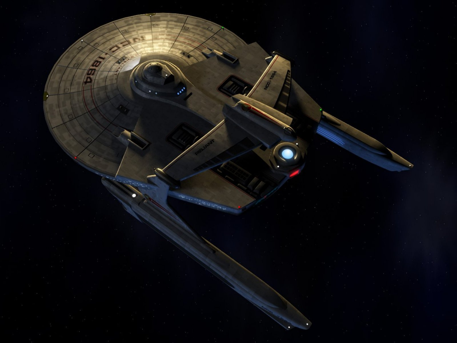 Star Trek starship USS Reliant NCC1864 computer desktop wallpaper 1600x1200