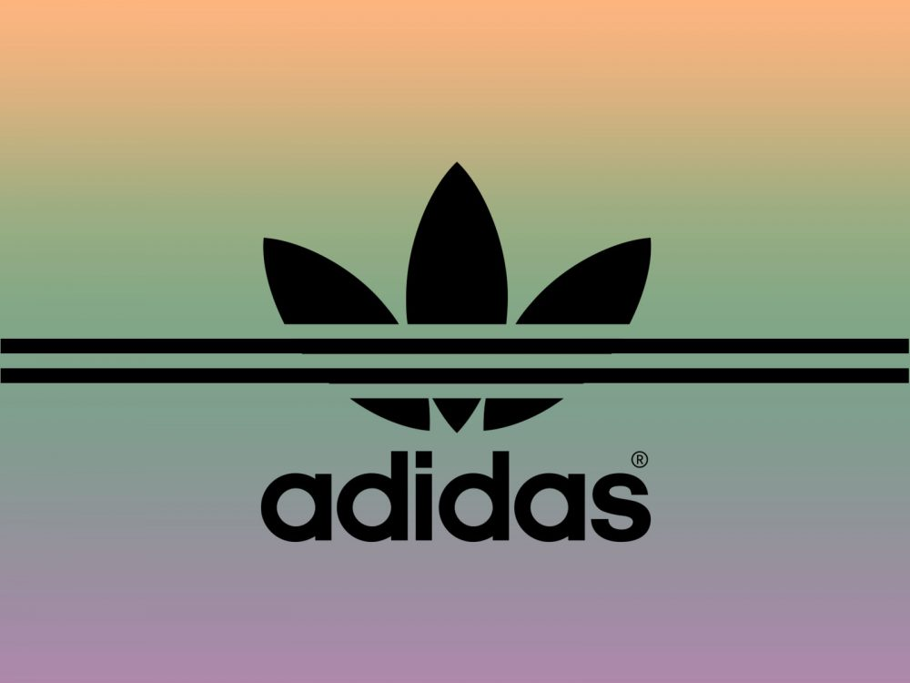 Adidas Sport Brand PPT Backgrounds   Black Multi Color 1000x750