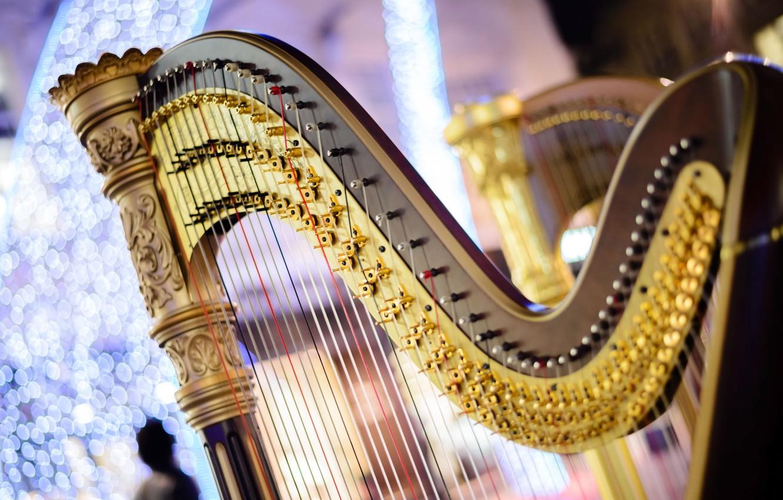 Wallpaper strings music blur sound harp concert tool music 1332x850