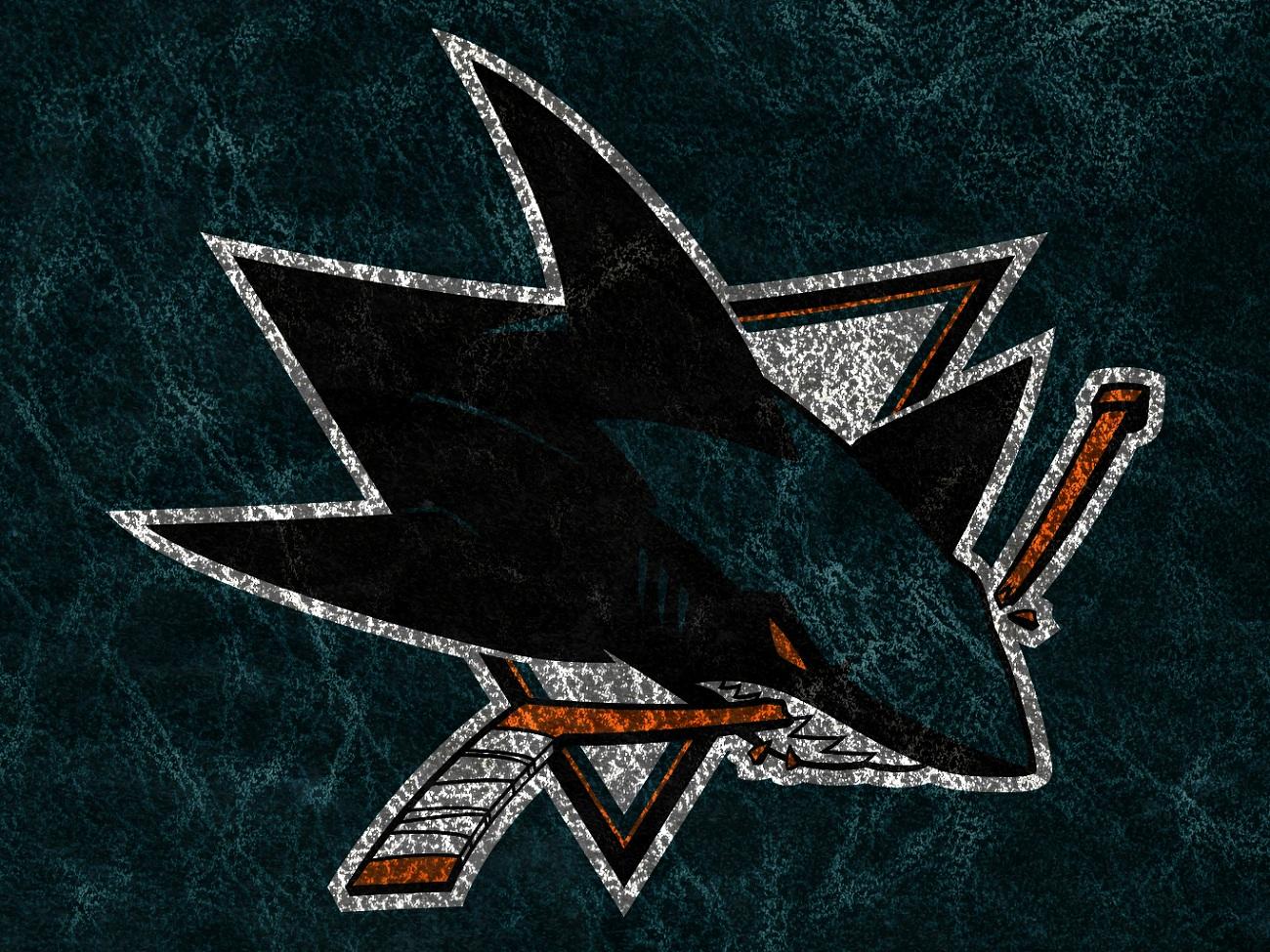 San Jose Sharks Logo Art Wallpaper 1300975 180248 HD Wallpaper Res 1300x975