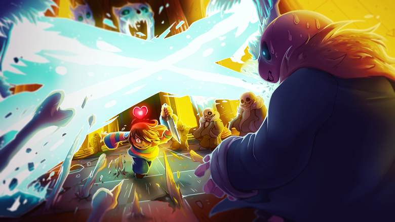 wallpaper size I love how they put Frisk VS [the enemy] in all of 780x439
