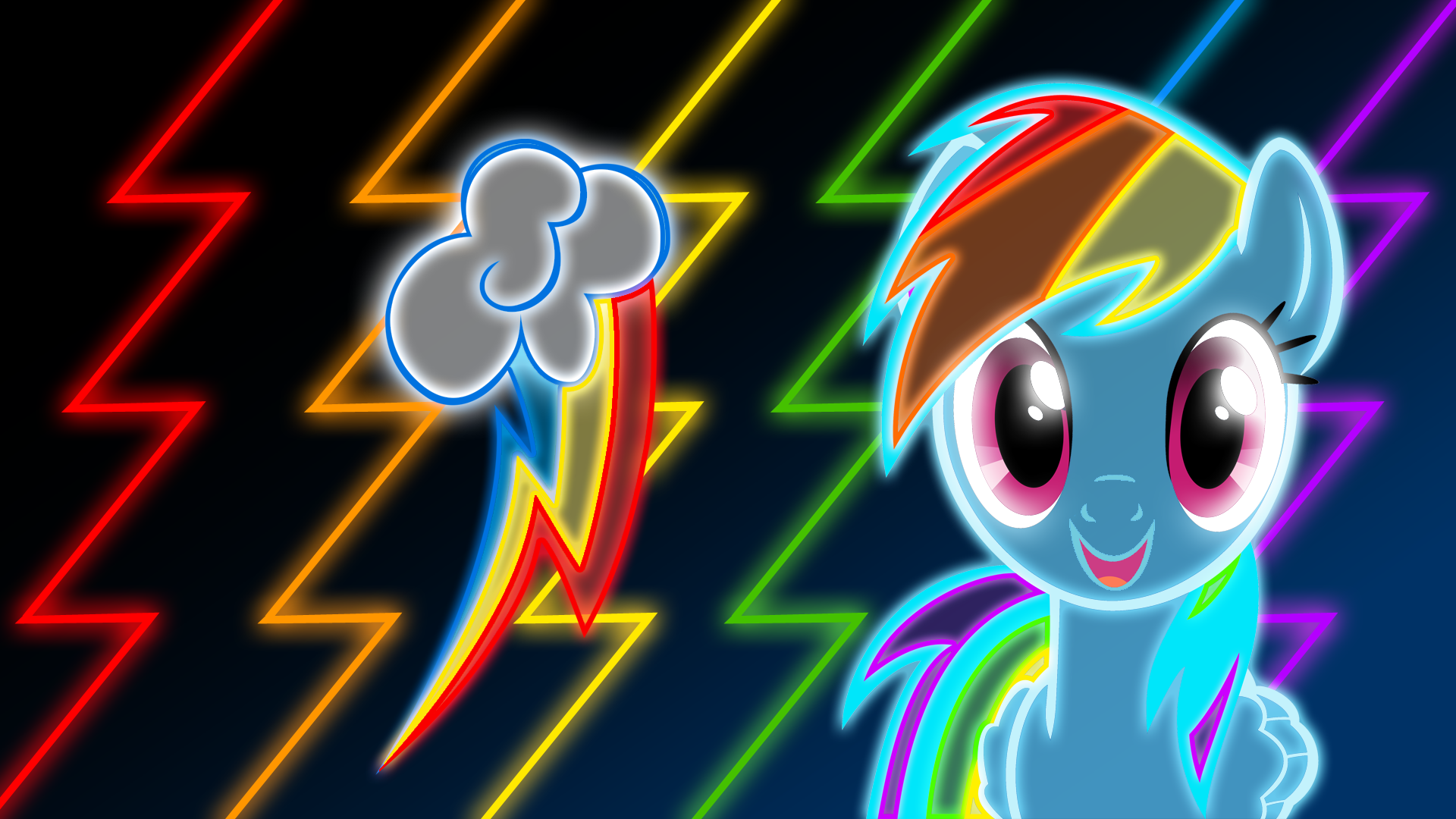 Awesome Colorful Neon Backgrounds Neon rainbow dash wallpaper by 1920x1080