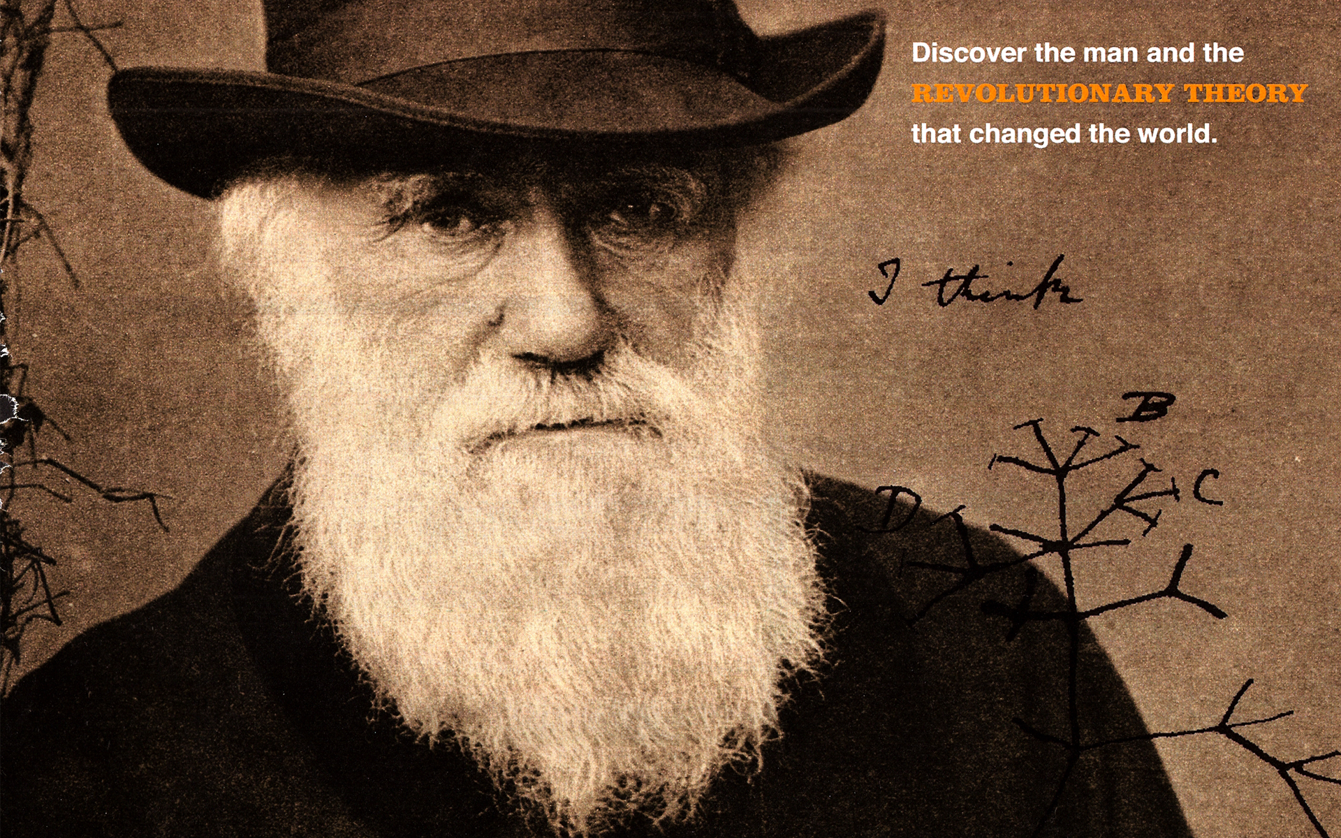 Charles Darwin wallpaper 1920x1200 61934 1920x1200
