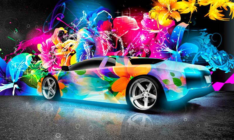 3D Cool Cars Wallpaper   screenshot 800x480