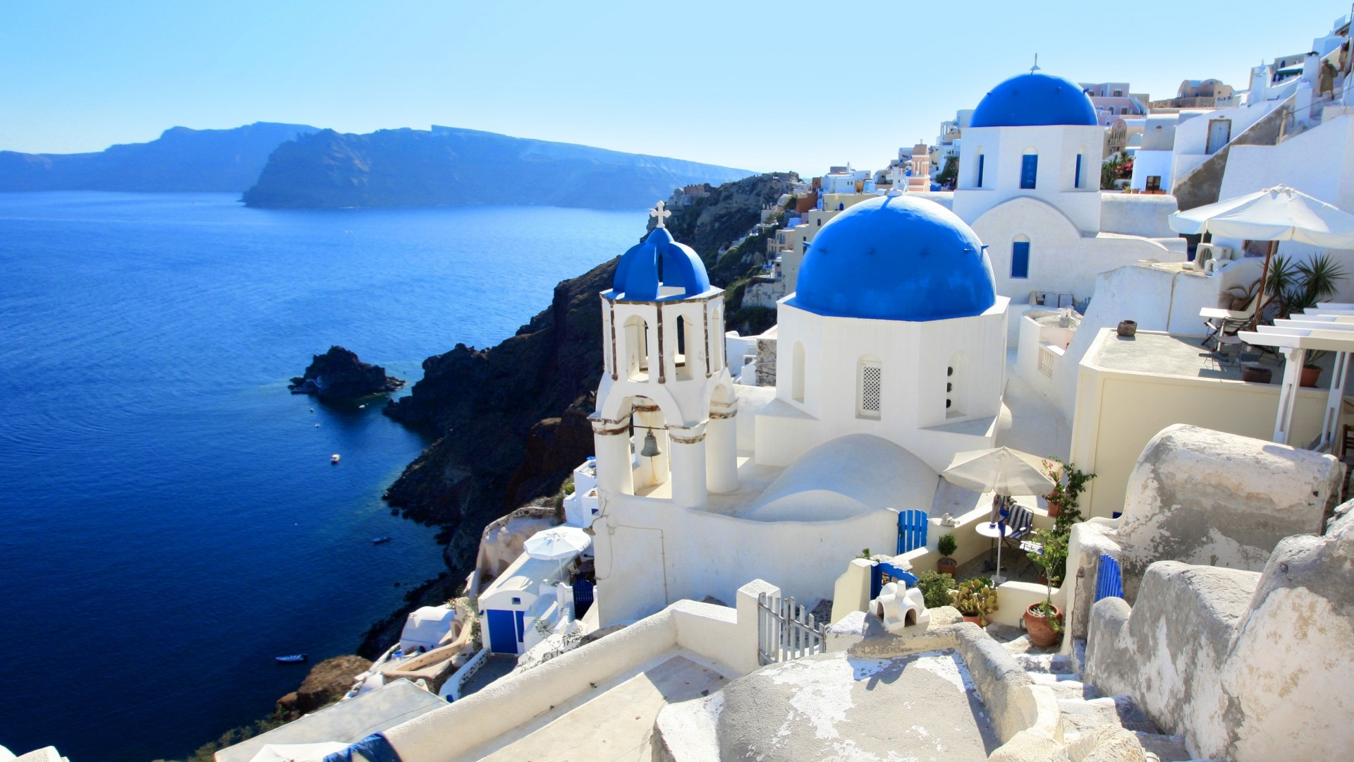 Santorini Wallpaper Deskto HD Wallpaper Background Images 1920x1080