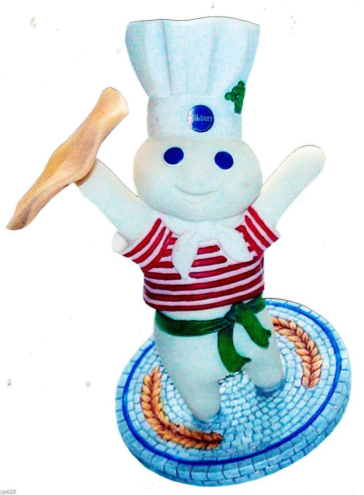 Pillsbury Doughboy Chef Baker Character Wall Safe Sticker Border 735x1000