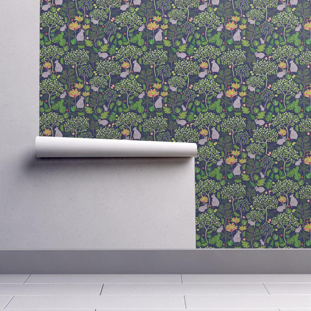 Kalihi Valley Wallabies wallpaper   honoluludesign   Spoonflower 1024x1024