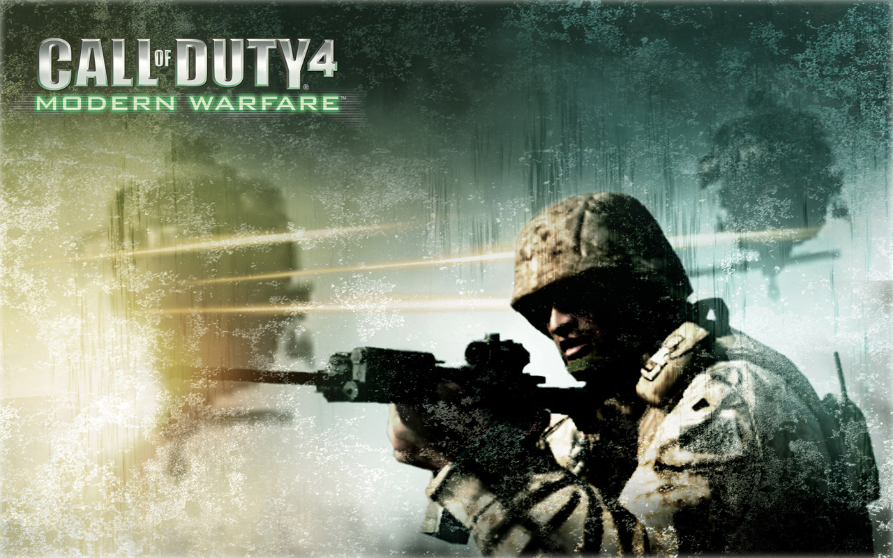 of Duty Modern Warfare 4 HD Wallpaper Logo Download Wallpapers 1280x800