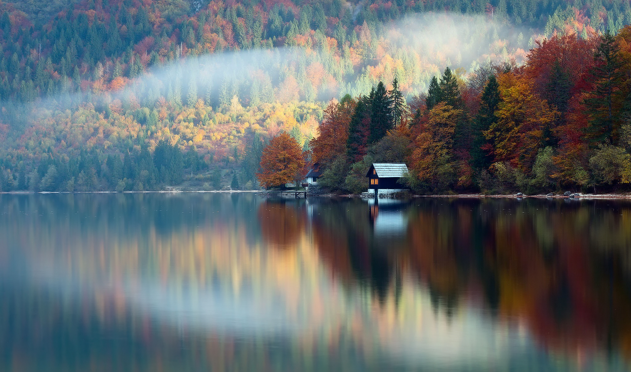 autumn cabin wallpaper desktop - photo #26