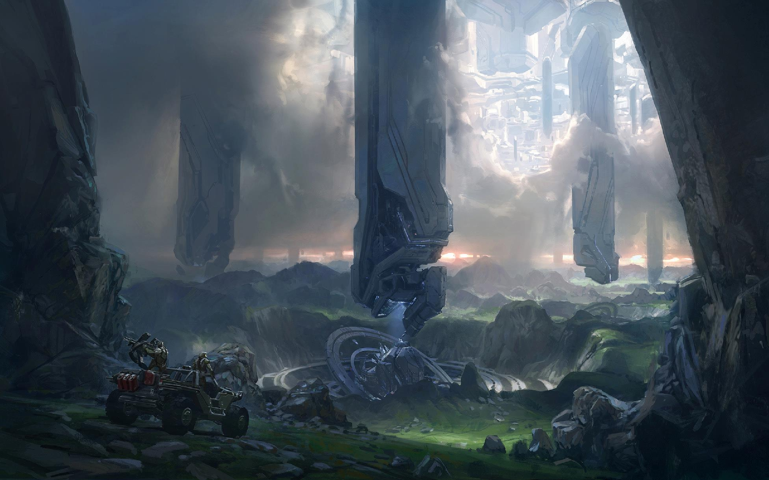 Halo 4 Wallpaper Concept Art The Jesters Corner 2560x1600