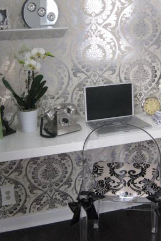 Free Download Like The Silver Wallpaper Bedroom Glamour Pinterest