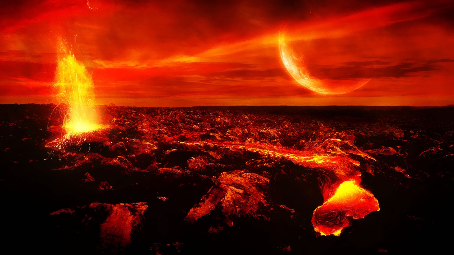 Volcano Clipart HD Wallpaper Background Images 1920x1080