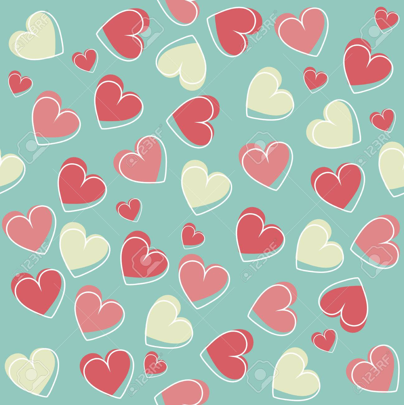 Stylish Valentines Day Background Seamless Pattern With Cute 1298x1300