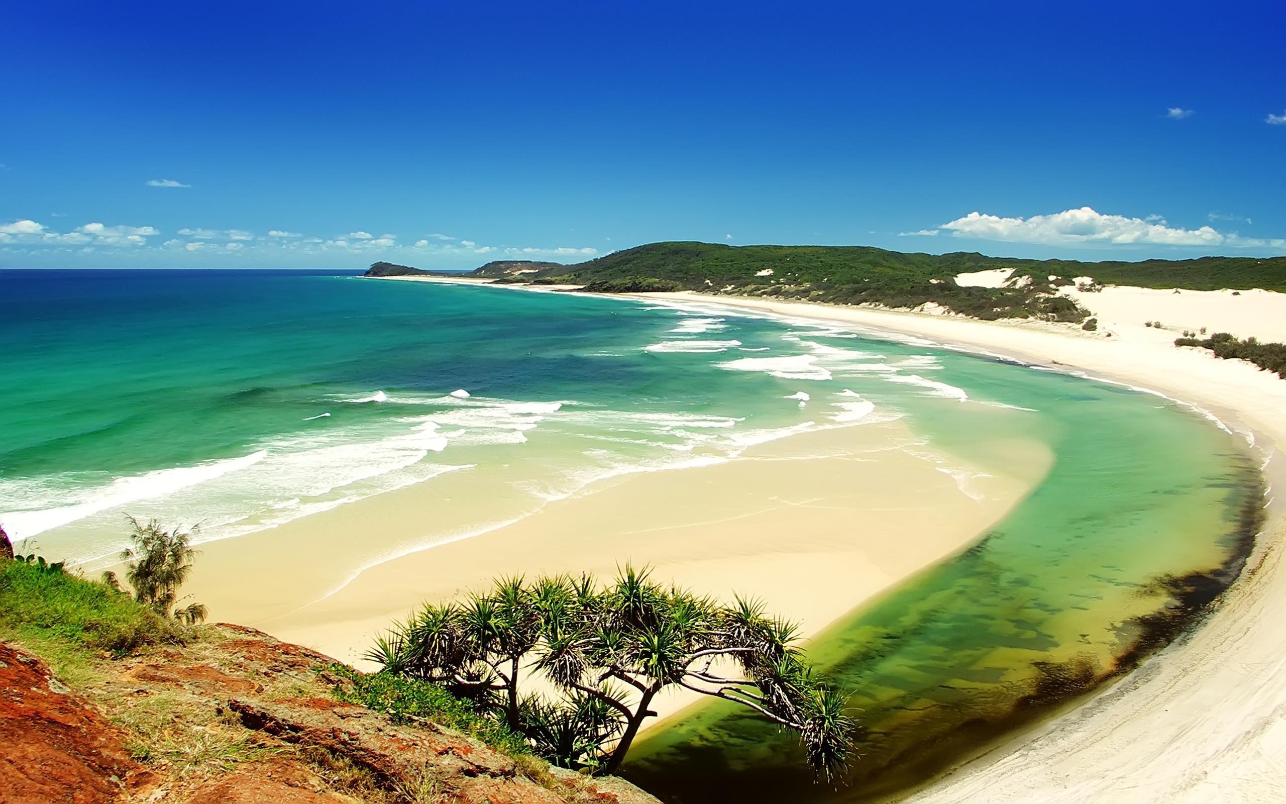 Beautiful Natural Beach Large HD Wallpapers Large HD 2560x1600