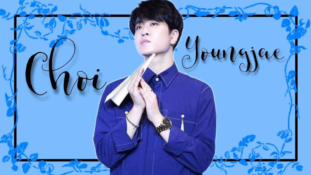 got7 choi youngjae flower blue wallpaper 1024x576
