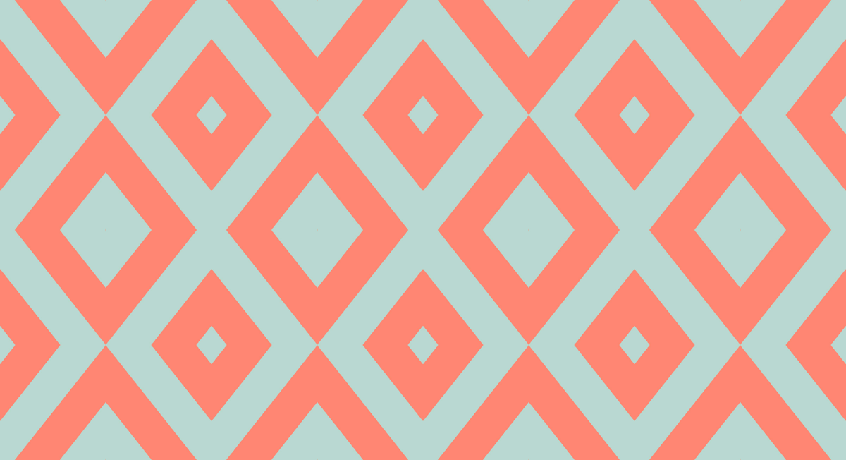 Coral And Mint Chevron Pattern 1200x652