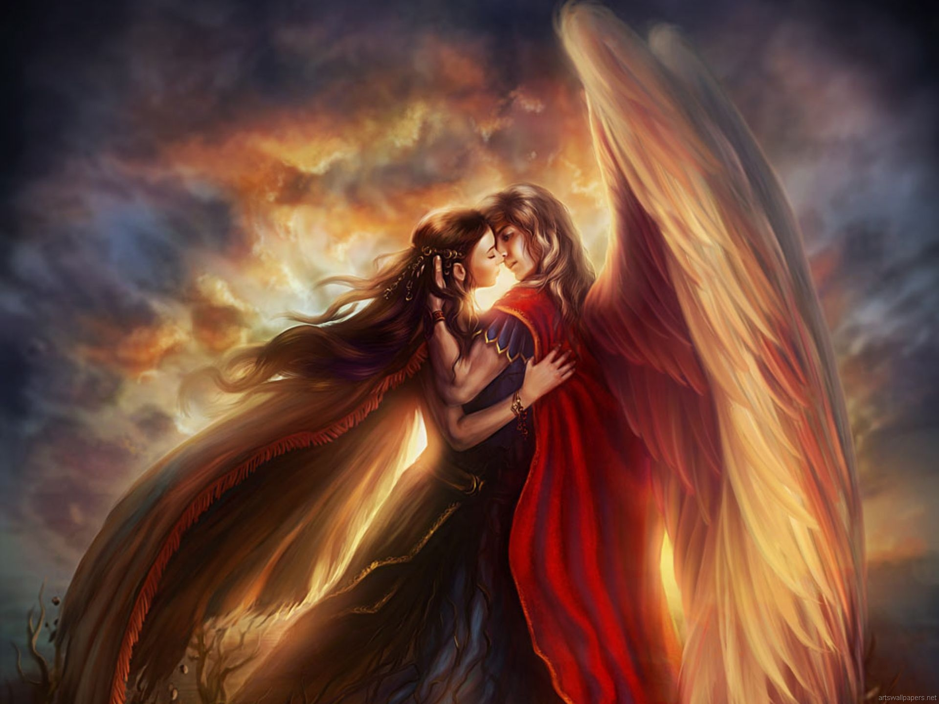 two angels Wallpaper Background 26630 1920x1440