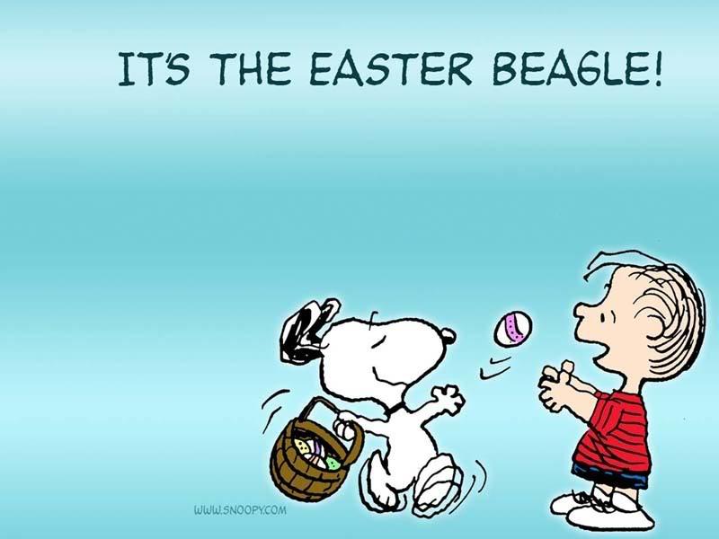 Snoopy Peanuts Easter Desktop 800x600