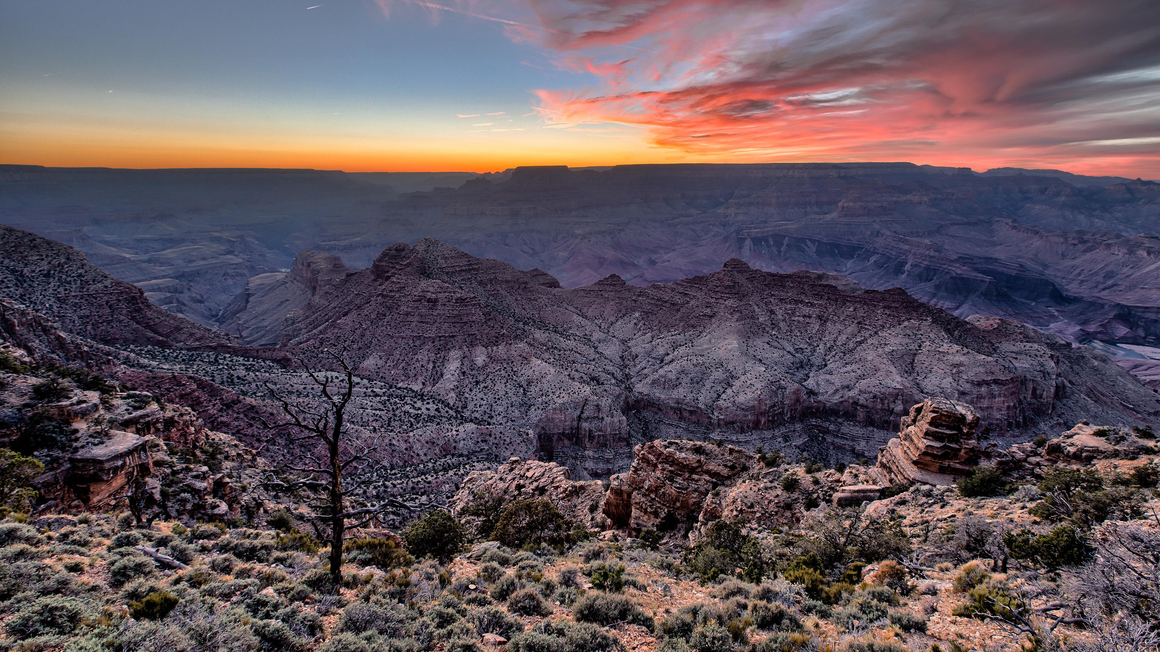 Grand Canyon Sunset 4K Ultra HD Desktop Wallpaper 3840x2160