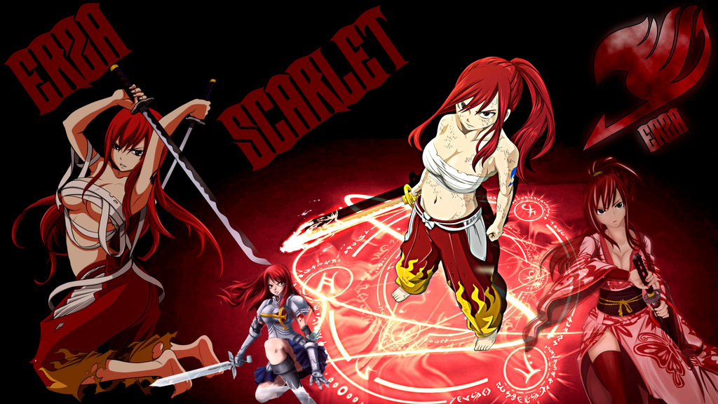 Fairy Tail Anime Erza Wallpaper Fariy tail   erza scarlet 1024x576