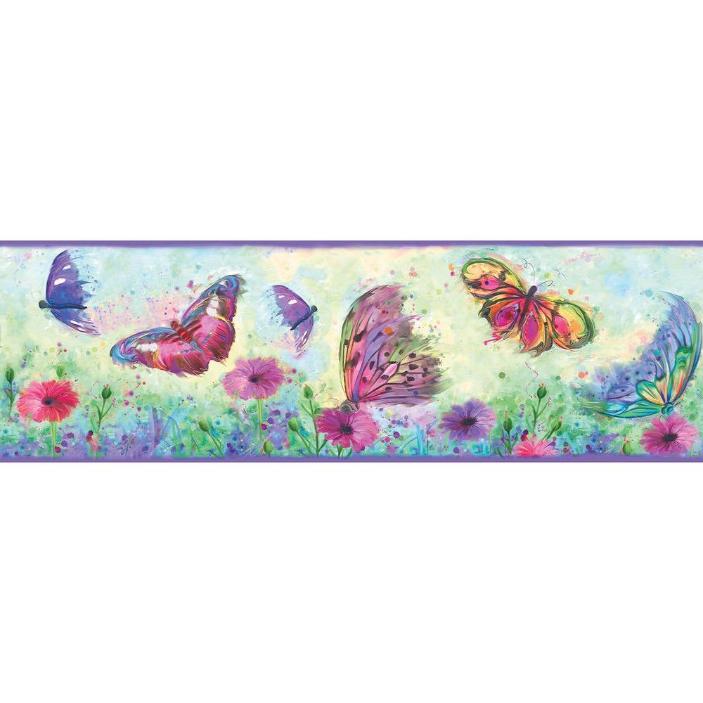 Chesapeake Ava Butterfly Swoosh Wallpaper Border HAS01001B   The 1000x1000