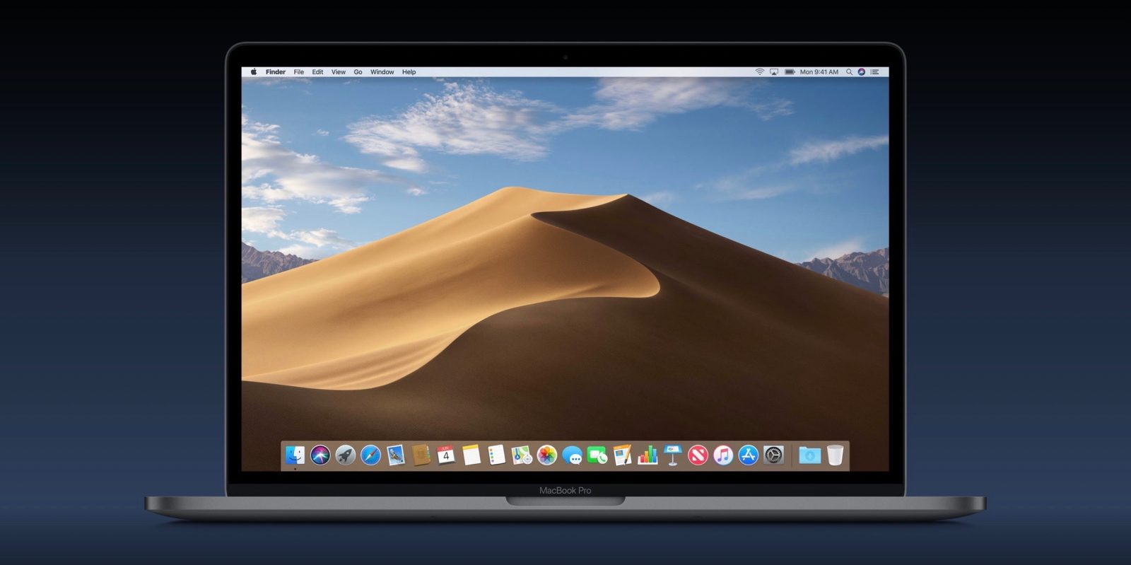 macOS Mojave includes two desert themed wallpapers download here 1600x799