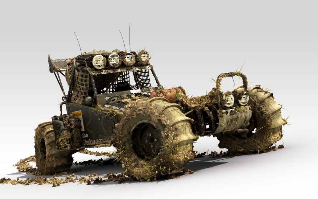 digitial dirt car off road Digital 3d desktop wallpaper screensaver 1024x640