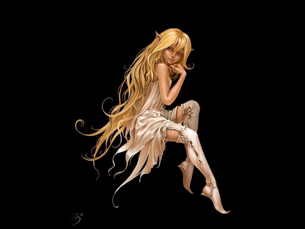 Desenhos Minha Arte Elf Fantasy Girl Desktop Backgrounds 1024x768