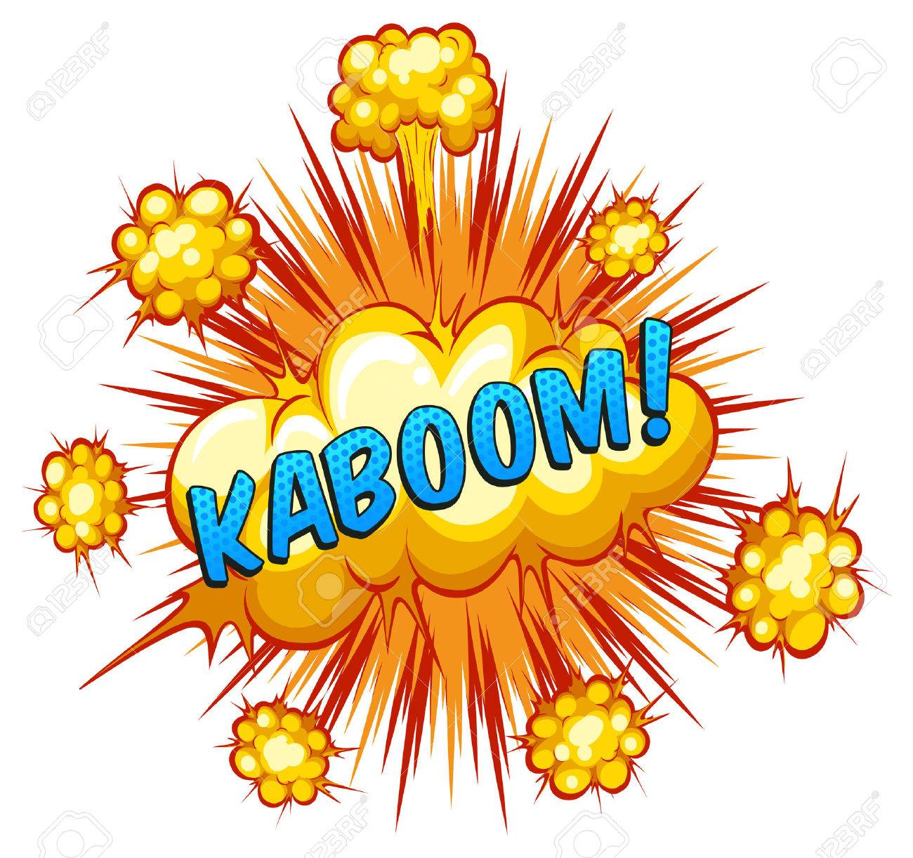 Word Kaboom With Explosion Background Royalty Cliparts 1300x1222