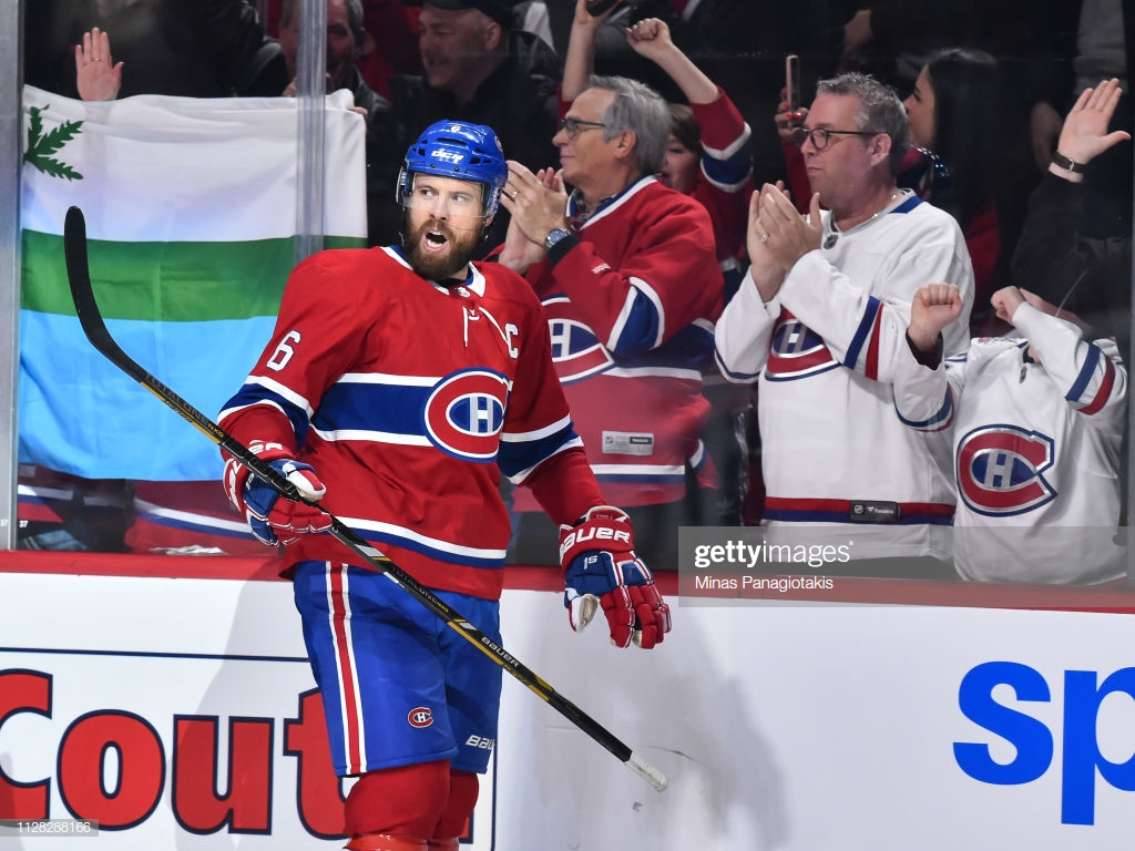 Shea Weber of the Montreal Canadiens celebrates a third period 1024x768