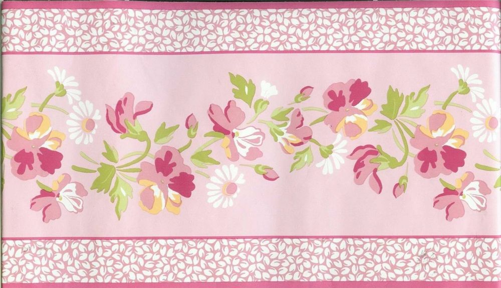 Free Download Laura Ashley Pink Floral Wallpaper Border Ebay
