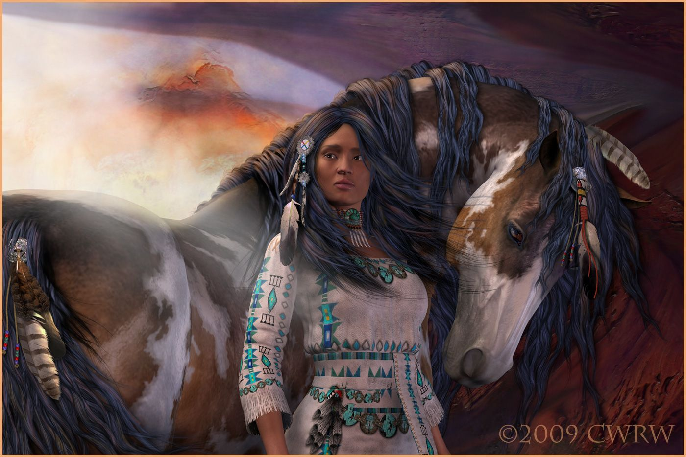 Souls animals girl horses indian indian american native american 1400x934