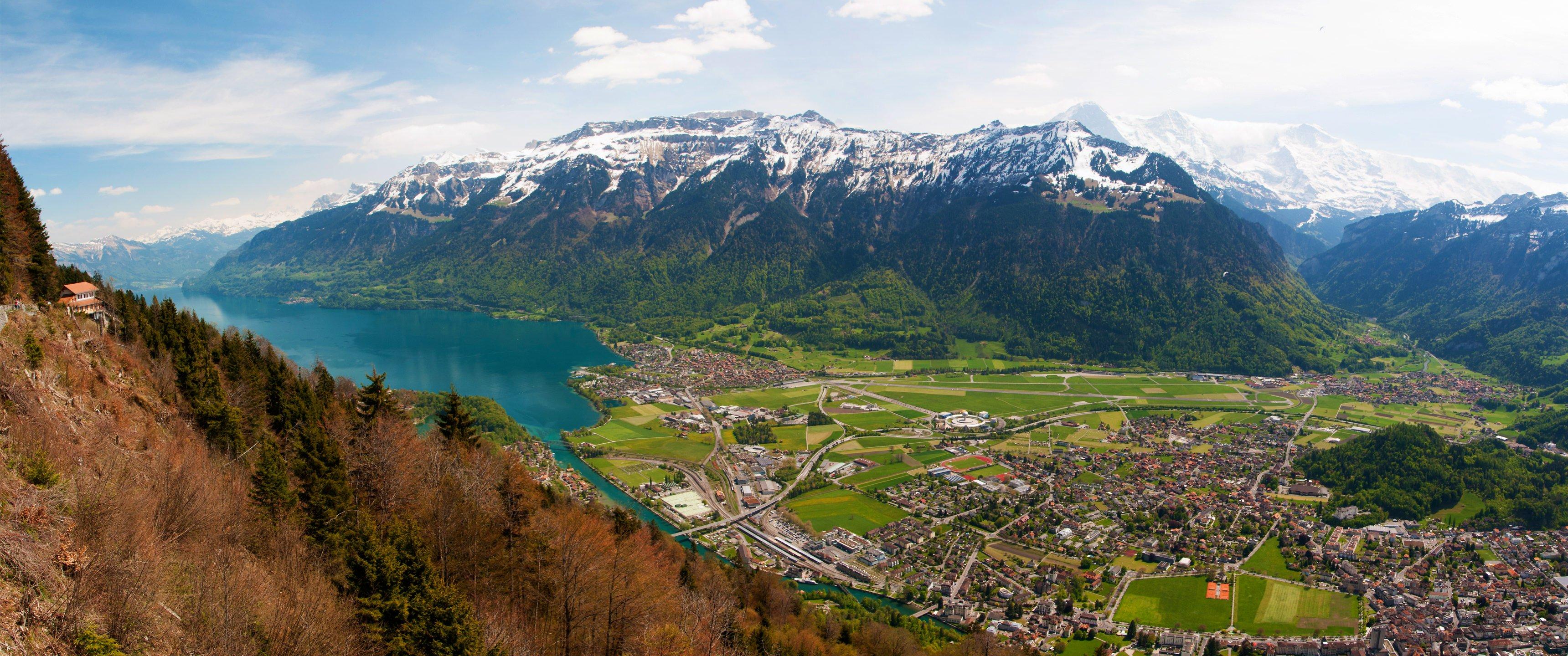 Interlaken   Switzerland HD wallpaper 3440x1440