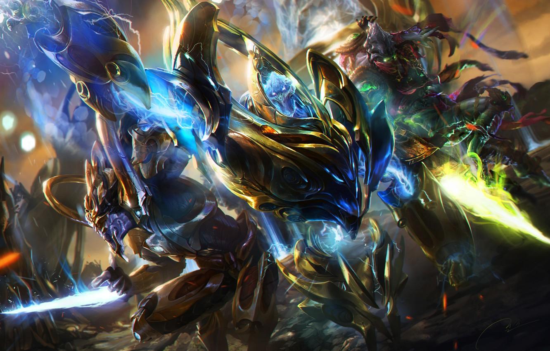 Wallpaper Fantasy Art Warrior Protoss Protoss StarCraft 2 1332x850