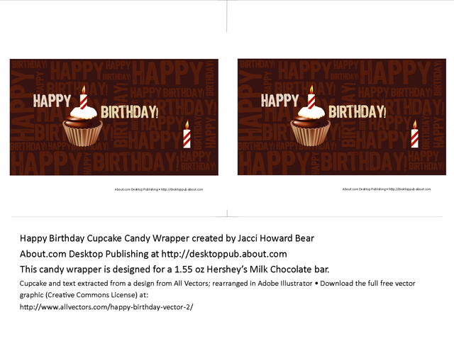 birthday candy bar wrappers template free - Vatoz.atozdevelopment.co