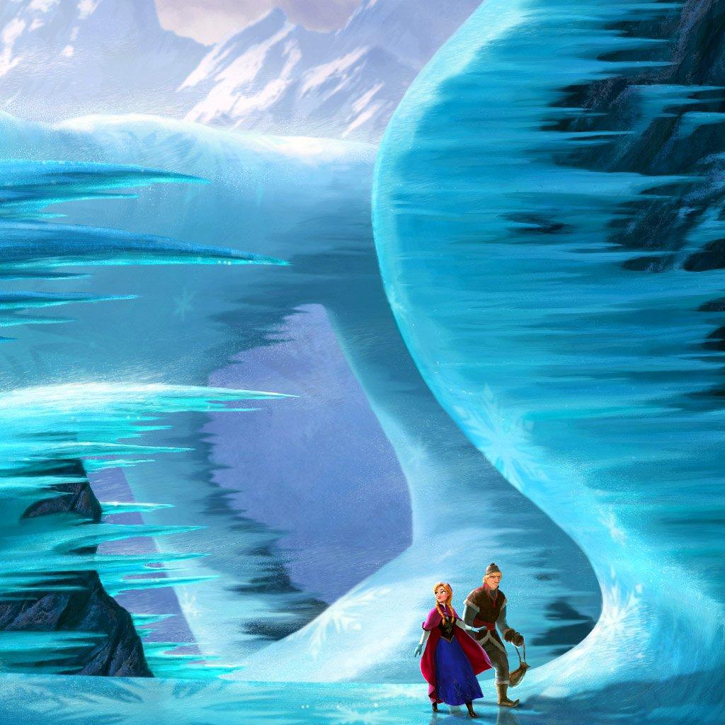 FREEIOS7 frozen walk   parallax HD iPhone iPad wallpaper 1024x1024