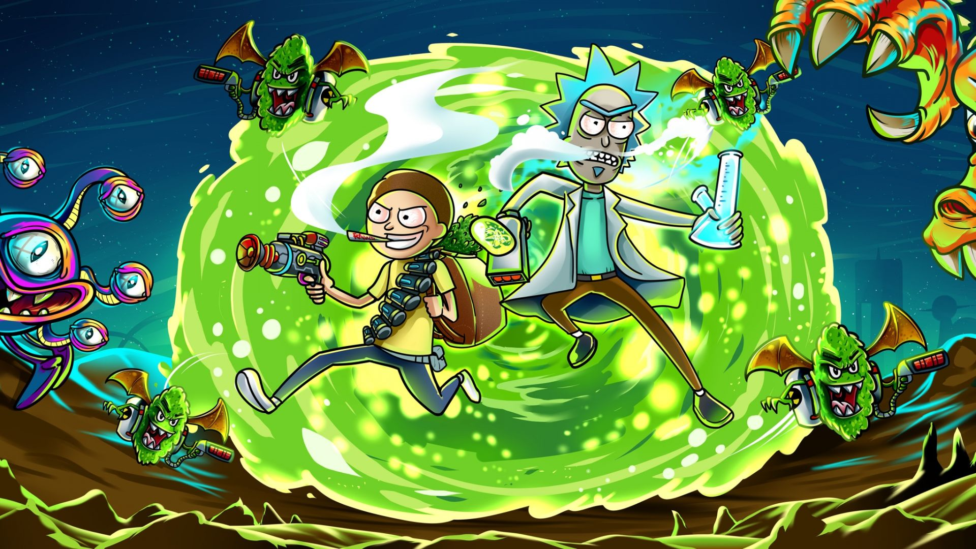 60 Rick and Morty Wallpapers   WallpaperBoat 1920x1080