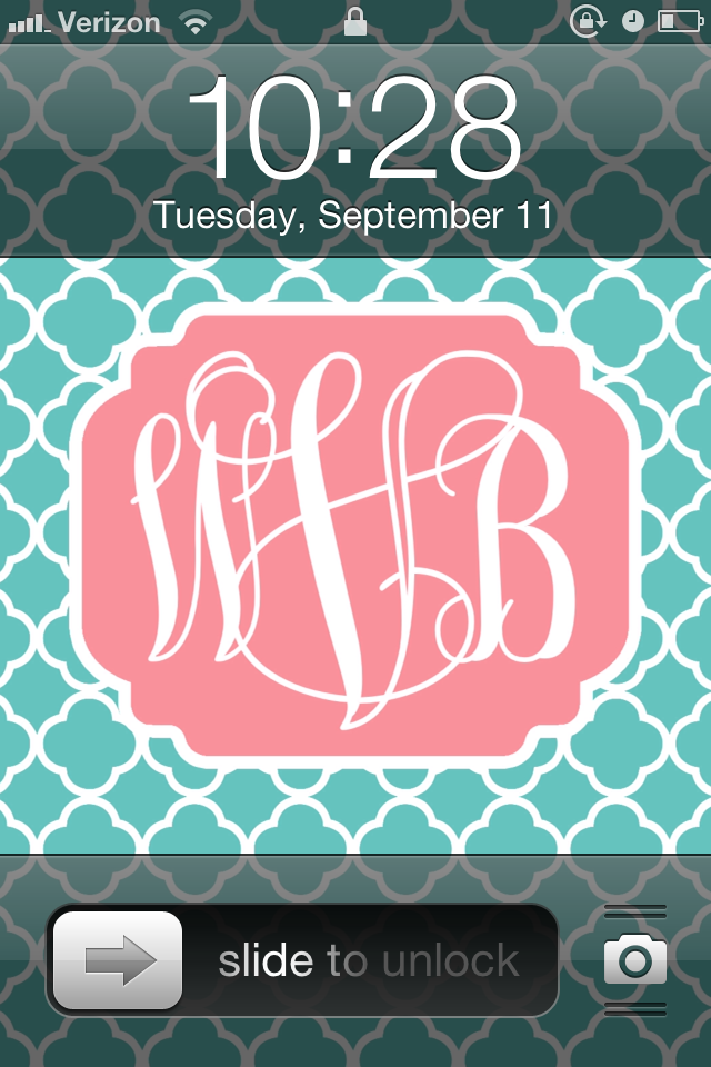 ladies How to make your own high quality monogram iPhone wallpaper 640x960