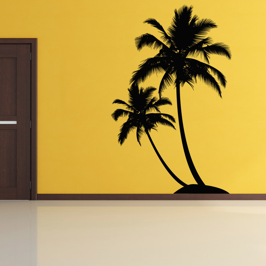 dual palm tree island wall decal will add an outdoor tropical theme to 900x900