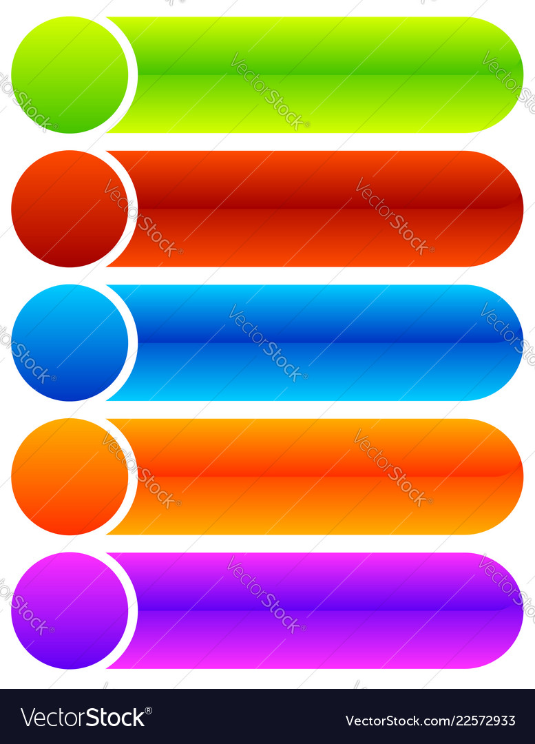 Set oblong button banner backgrounds in Royalty Vector 777x1080