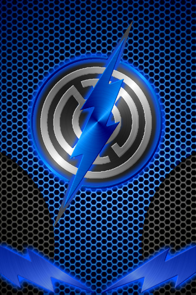 Metalic Blue Lantern Flash background by KalEl7 640x960